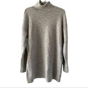 Gap maternity cowl neck tunic sweater L grey